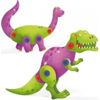 Quercetti Tecno 3D Puzzle brontosaurus a T-Rex 3