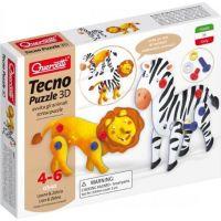 Quercetti Tecno 3D Puzzle lev a zebra