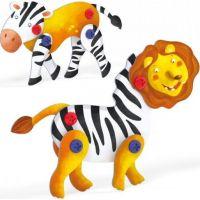 Quercetti Tecno 3D Puzzle lev a zebra 3