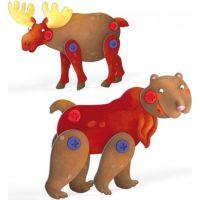 Quercetti Tecno 3D Puzzle medveď a los 3