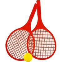 Toy Raketa plážová stredná soft tenis farebný červená