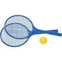 Toy Raketa plážová stredná soft tenis farebný modrá
