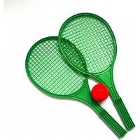 Toy Raketa plážová stredná soft tenis farebný zelená