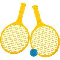 Toy Raketa plážová stredná soft tenis farebný žltá