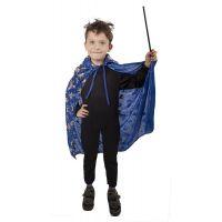 Rappa dětský čarodějnický plášť modrý 3