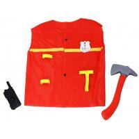 Rappa Detský hasičský plášť s doplnkami