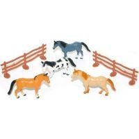 Rappa Koně s ohradou 4 ks v sáčku