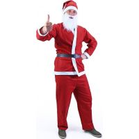 Rappa Kostým Santa Claus (bez fúzov) dospelý 3