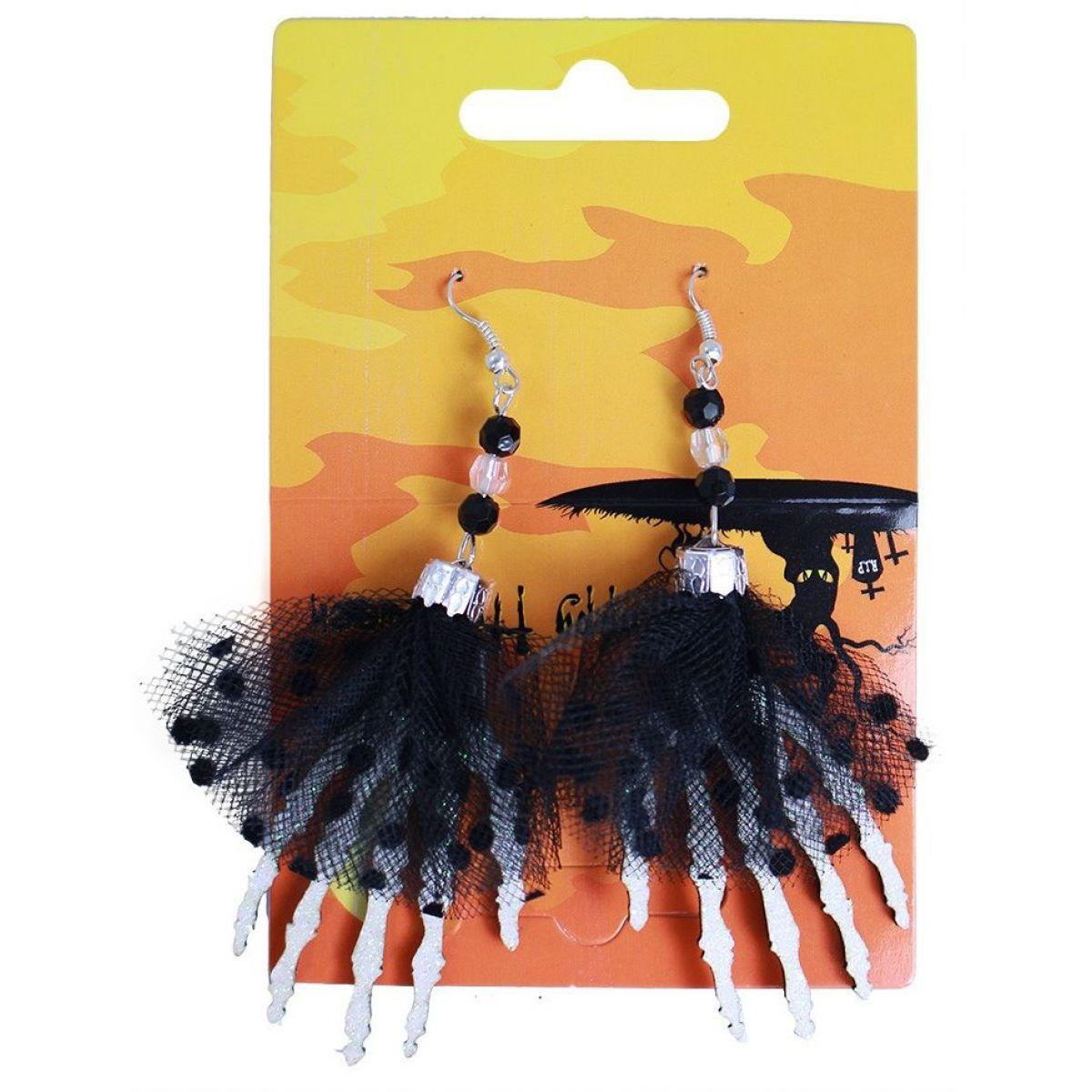 Rappa náušnice ruky Halloween