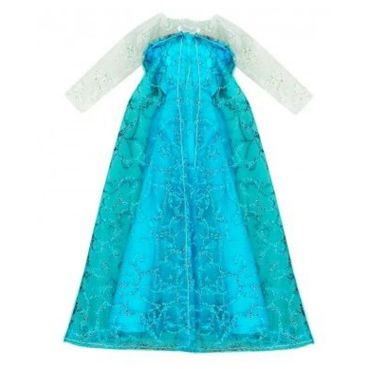 Rappa oblečenie pre bábiku zimné kráľovstvo modré s bielymi rukávmi