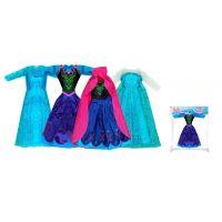 Rappa oblečenie pre bábiku zimné kráľovstvo modré s bielymi rukávmi 2