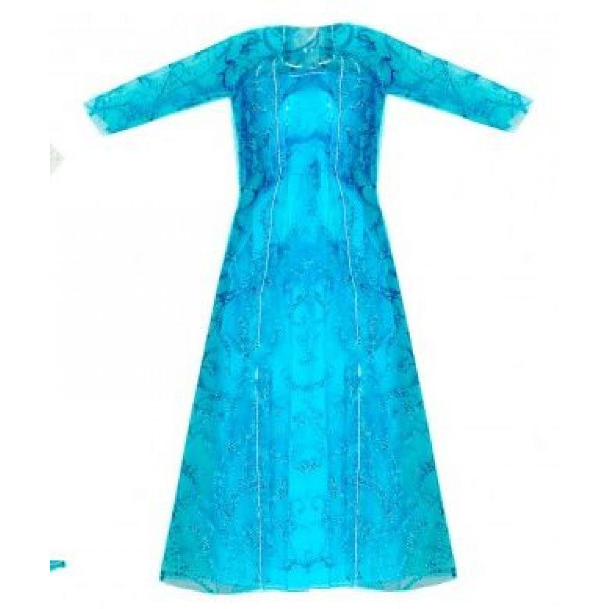 Rappa oblečenie pre bábiku zimné kráľovstvo svetlo modré