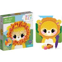 Rappa Obrázek kreativní lev s textilem