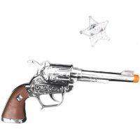 Rappa Pištoľ kovbojská s odznakom Sheriff
