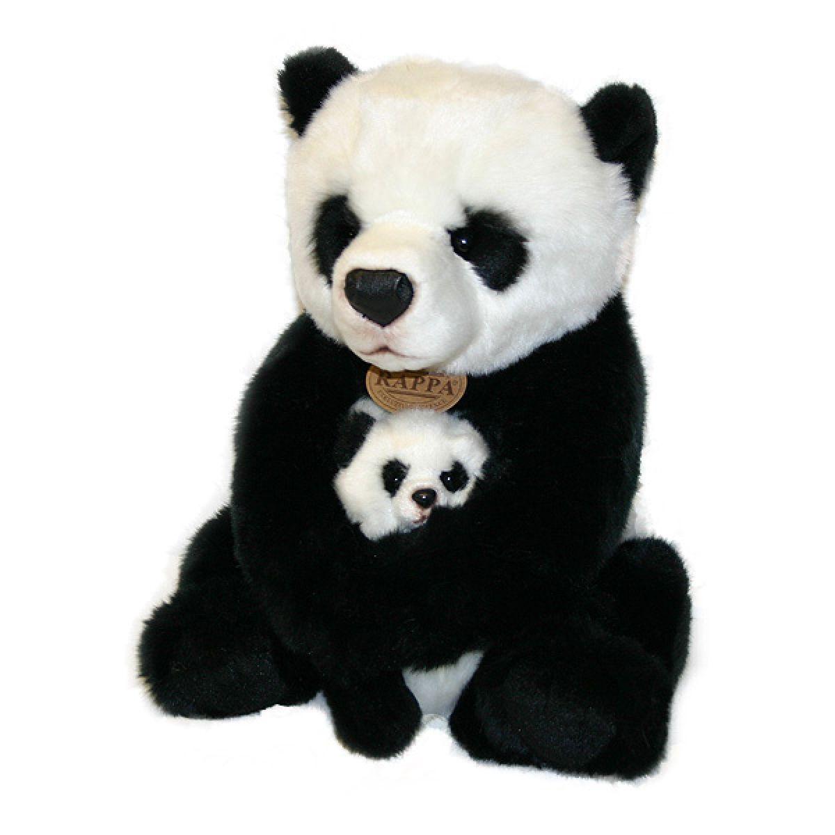 Rappa Plyšová panda s mláďaťom 27 cm