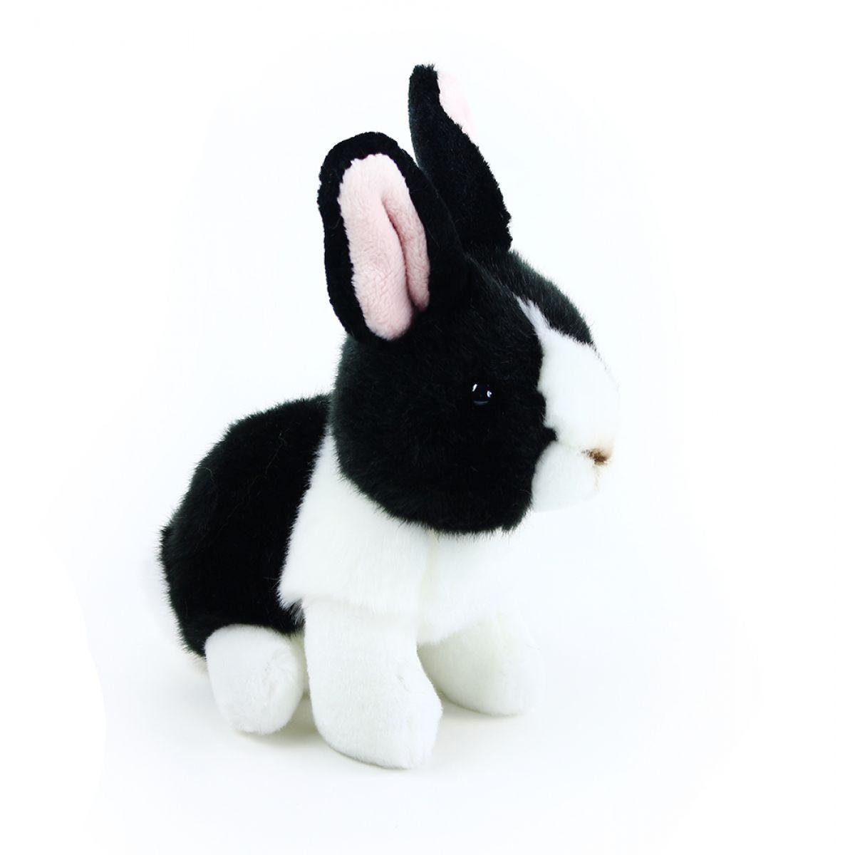 Rappa Plyšový králik 16 cm Čiernobiela