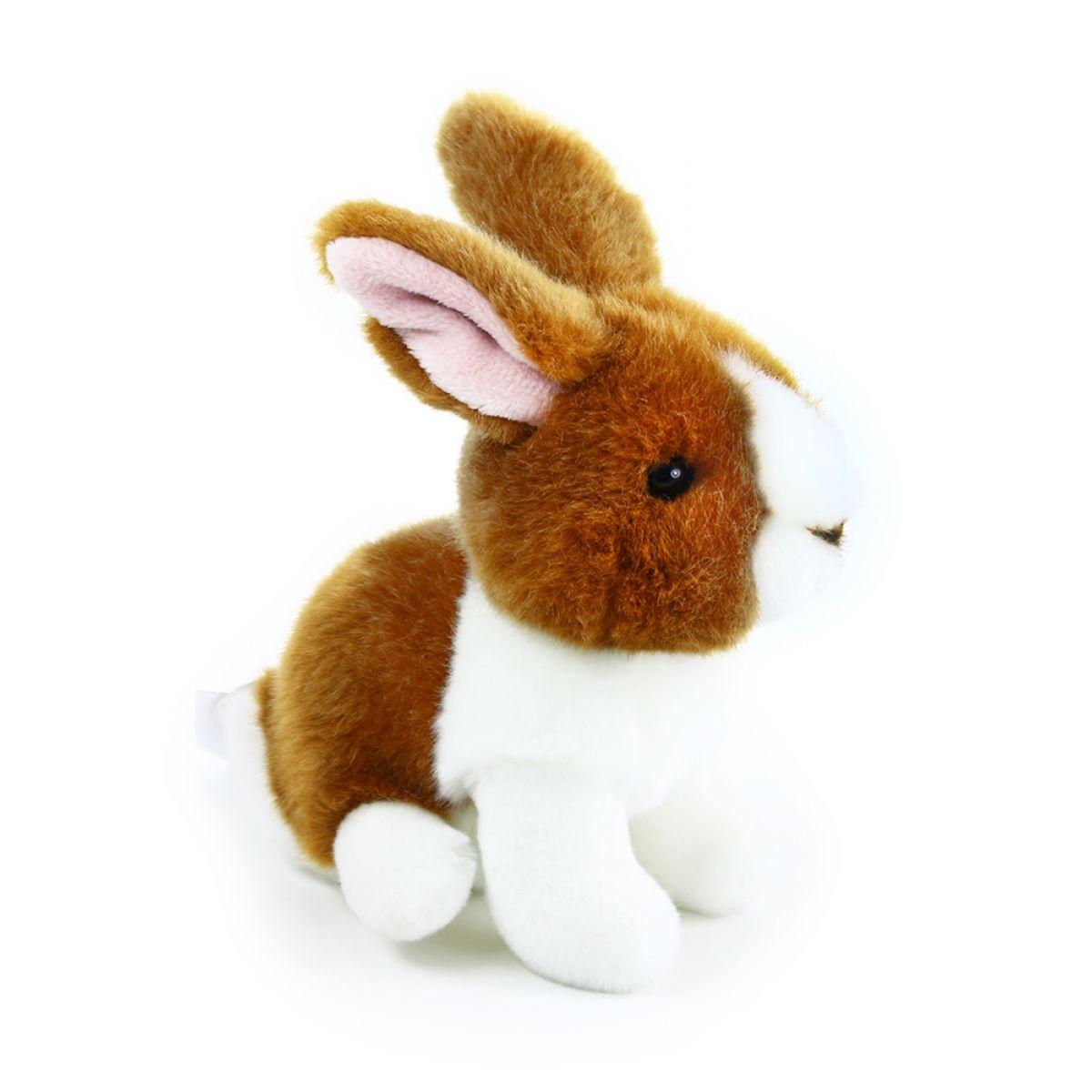 Rappa plyšový králik 16 cm Hnedo - biely