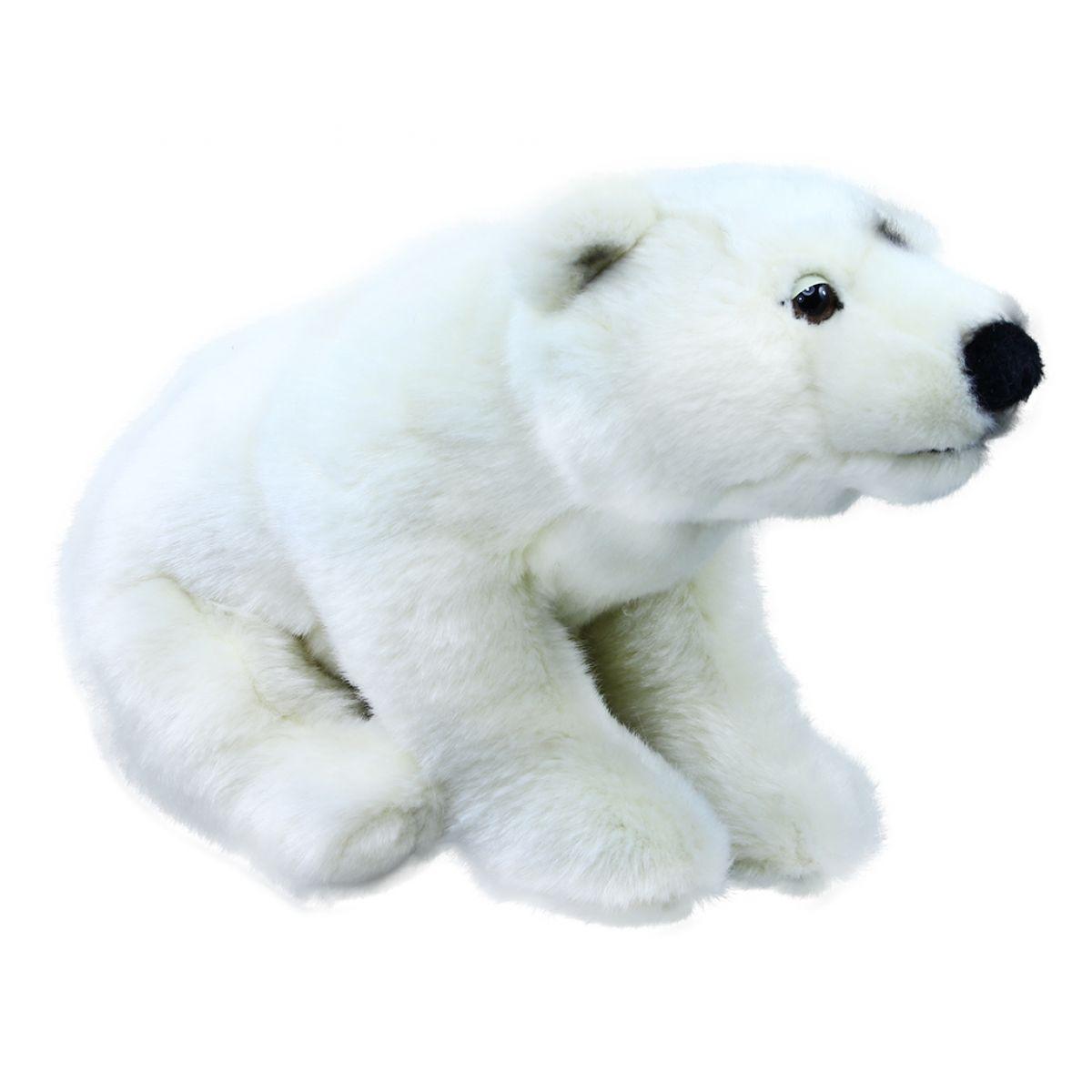 Rappa plyšový medvěd polární 30 cm