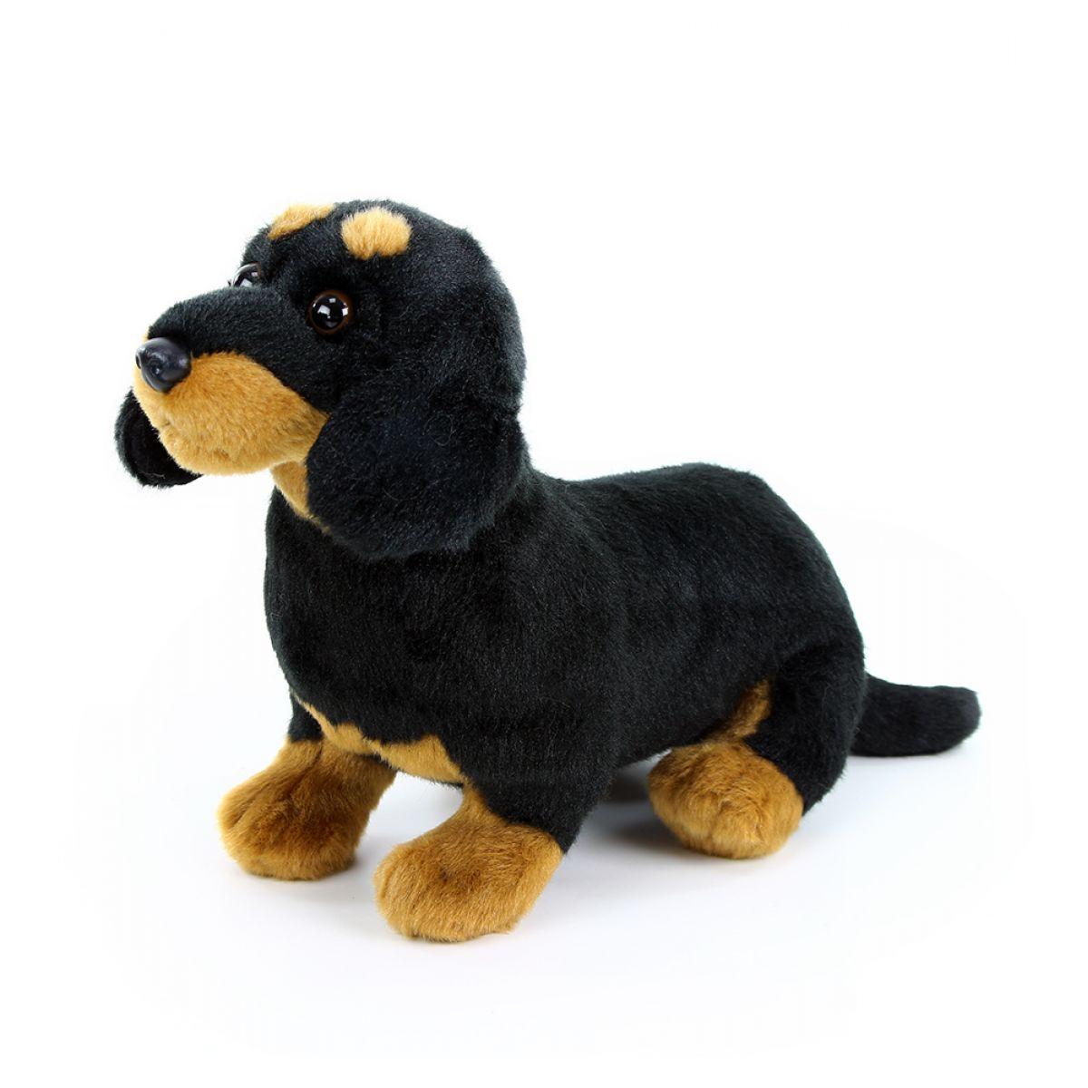 Rappa Plyšový pes Jezevčík sedící 30 cm