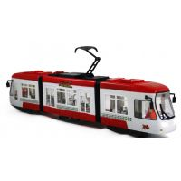 Rappa tramvaj mluvící česky se zvukem a světlem červená