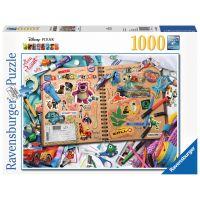 Ravensburger 198160 Puzzle Premium Disney Pixar Sešit výstřižků 1000 dílků