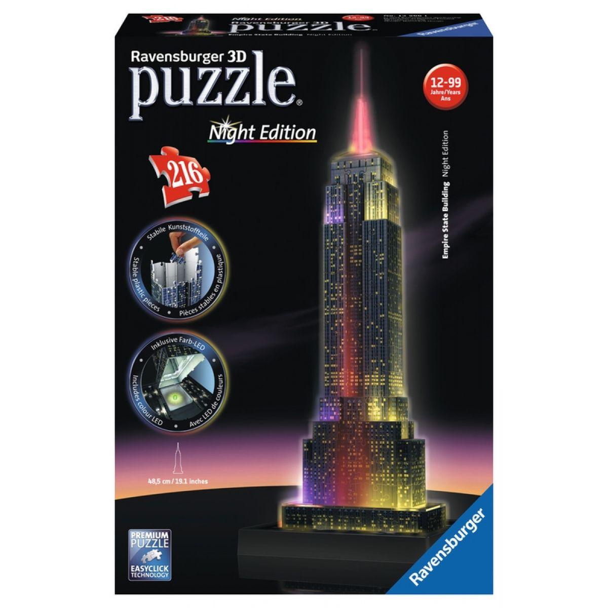 Ravensburger 3D puzzle svítící Noční Empire State Building 216 dielikov
