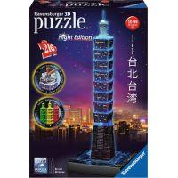 Ravensburger 3D puzzle 111497 Taipei Nočná edícia 216 dielikov
