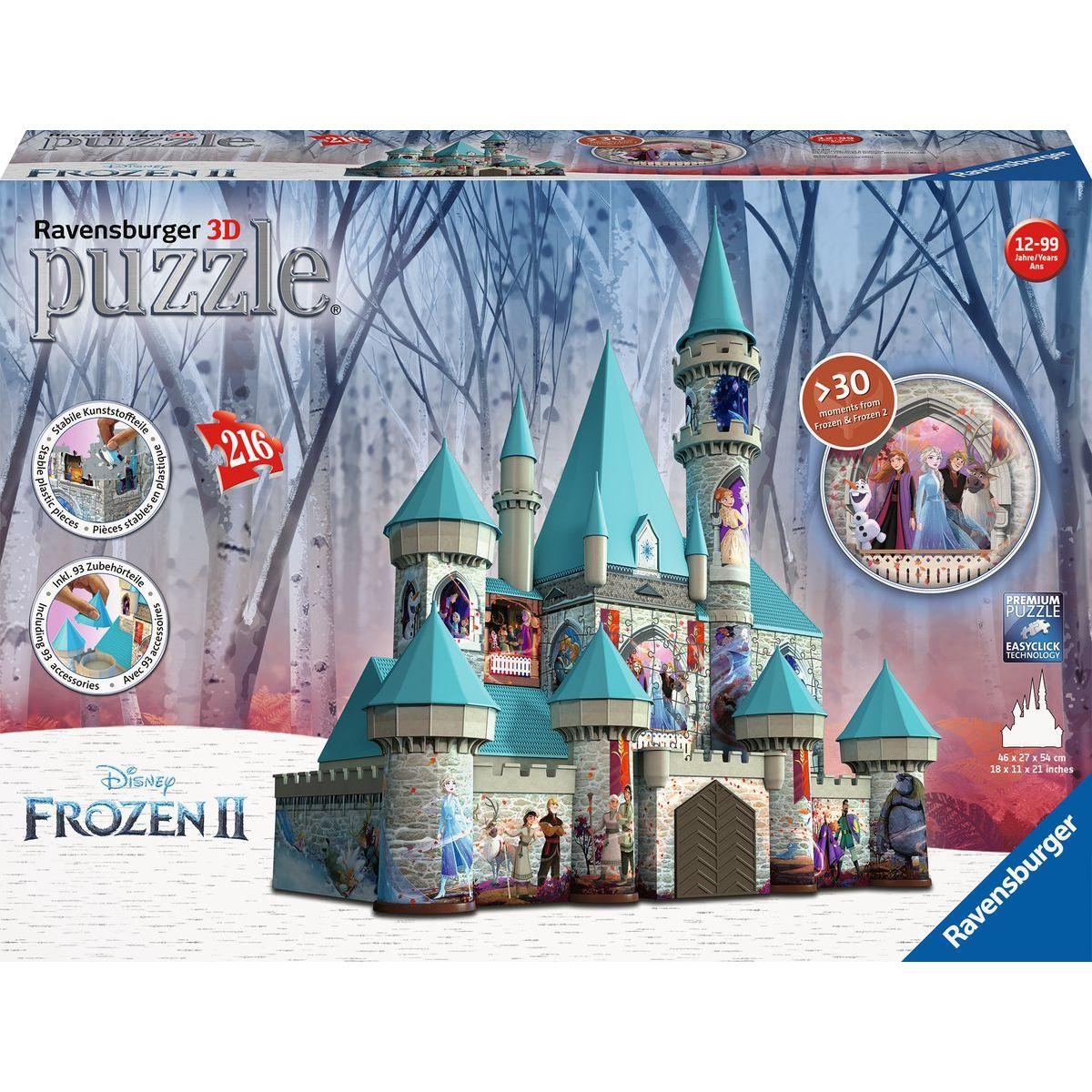 Ravensburger 3d puzzle 111565 Disney Zámok Ľadové kráľovstvo 216 dielikov