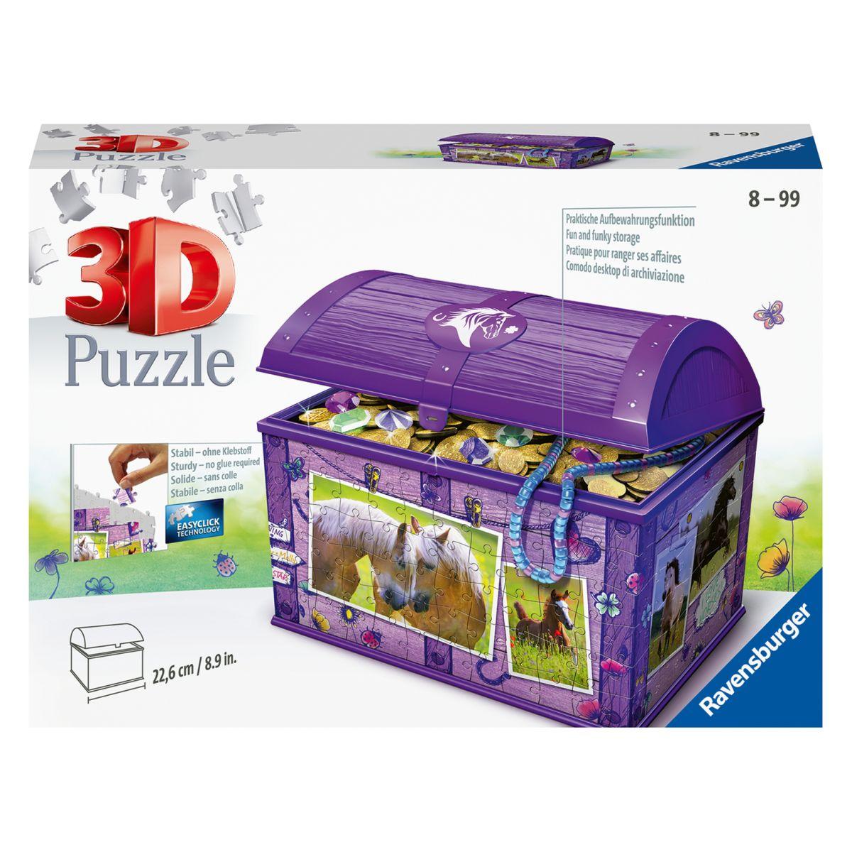 Ravensburger 3D puzzle 111732 Úložná krabica s vekom Kôň 216 dielikov