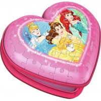 Ravensburger 3D puzzle 112340 Srdce Disney princezné 54 dielikov