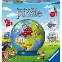 Ravensburger 3D Puzzle 118403 Malovaný globus 72 dielikov