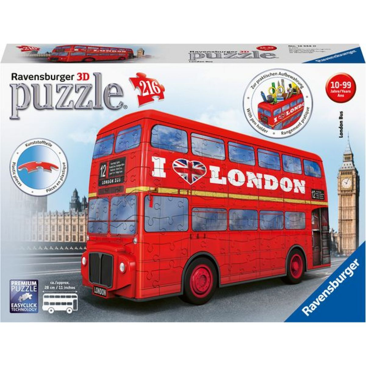 Ravensburger 3D puzzle 125340 Londýnsky autobus 216 dielikov