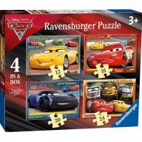 Ravensburger Disney Autá 3 puzzle - 12,16,20,24 dielikov