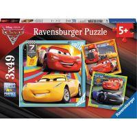 Ravensburger Disney Autá Puzzle 3 motívy 49 dielikov