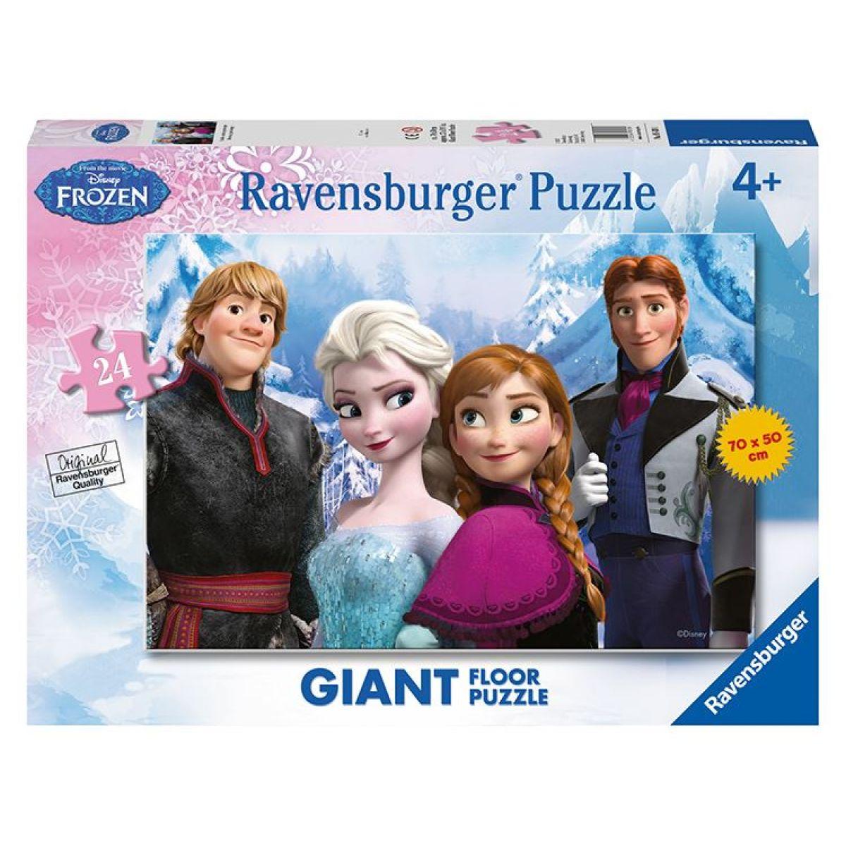 RAVENSBURGER 24 dílků Ledové království: Sestry a přátelé navždy