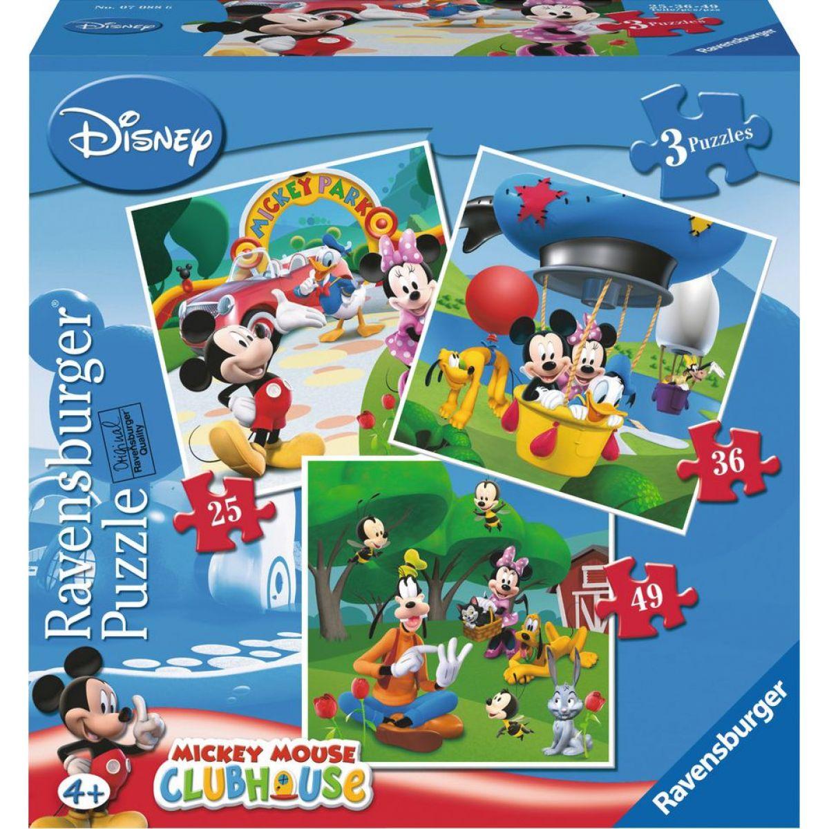 Ravensburger Disney Mickey v Parku puzzle 25 ,36, 49 dielikov