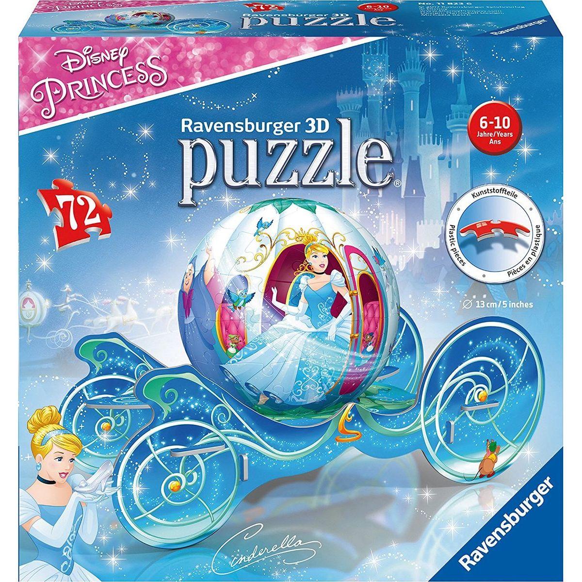 Ravensburger 3D puzzleball Popelčin kočár 72 dílků