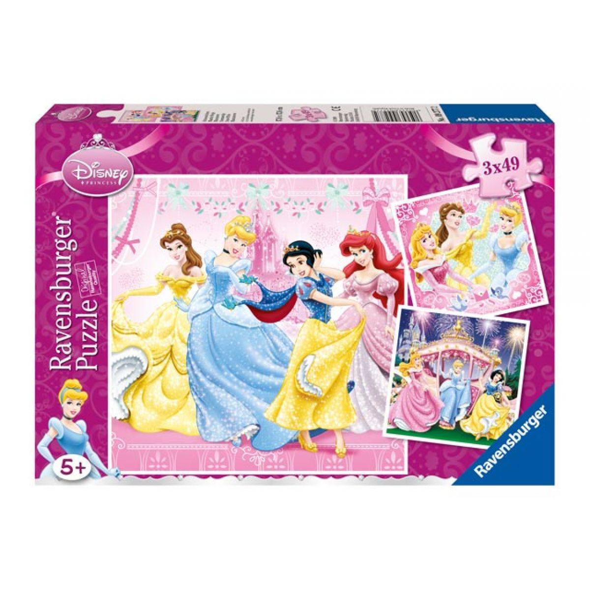 Ravensburger Disney Princezné 3 x 49 dielikov