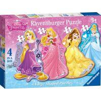 Ravensburger Disney Princezny 4 v 1 tvary
