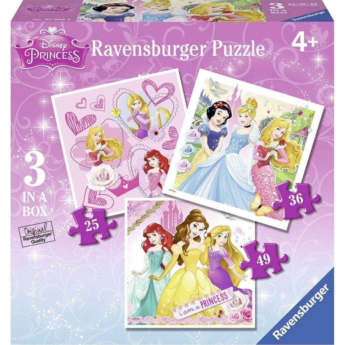 Ravensburger Disney princezné ja som princezná Puzzle 25, 36, 49 dílků