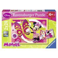 RAVENSBURGER Den s Minnie 2v1 2x24 dílků