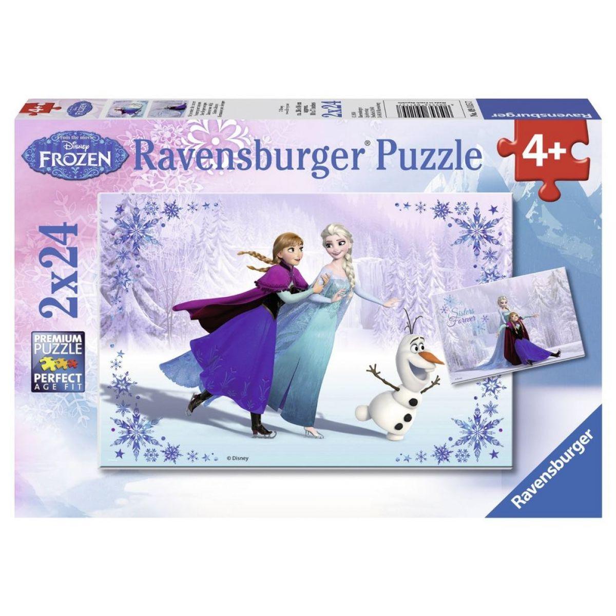 RAVENSBURGER Ledové království: Sestry navždy 2v1 2x24 dílků