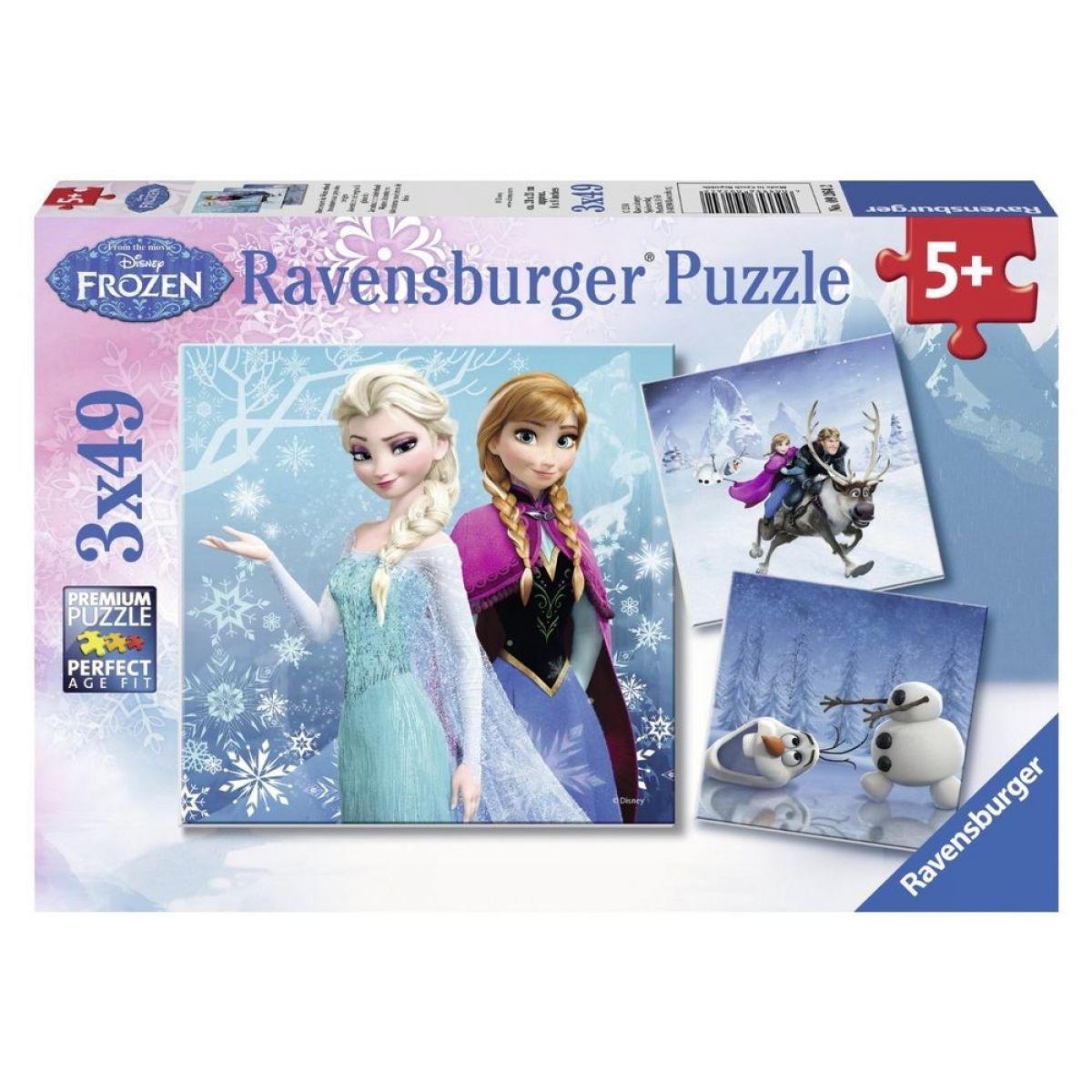 Ravensburger Disney Ľadové kráľovstvo dobrodružstvo na snehu  3 x 49 dielikov