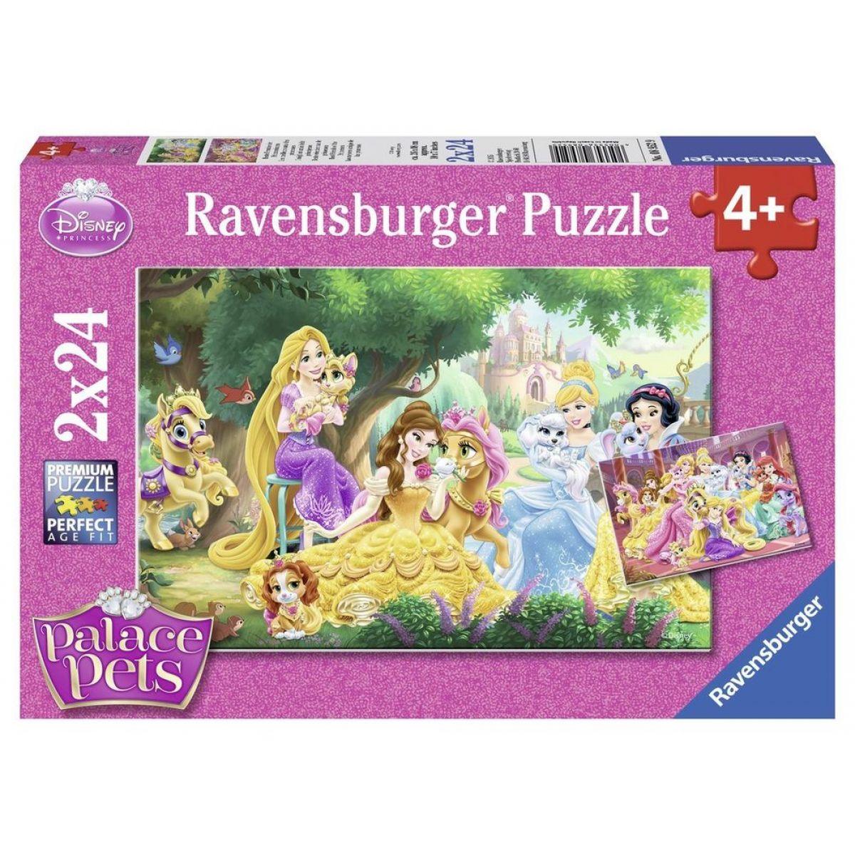 Ravensburger Disney Princess Nejlepší přátelé princezen 2 x 24 dílků