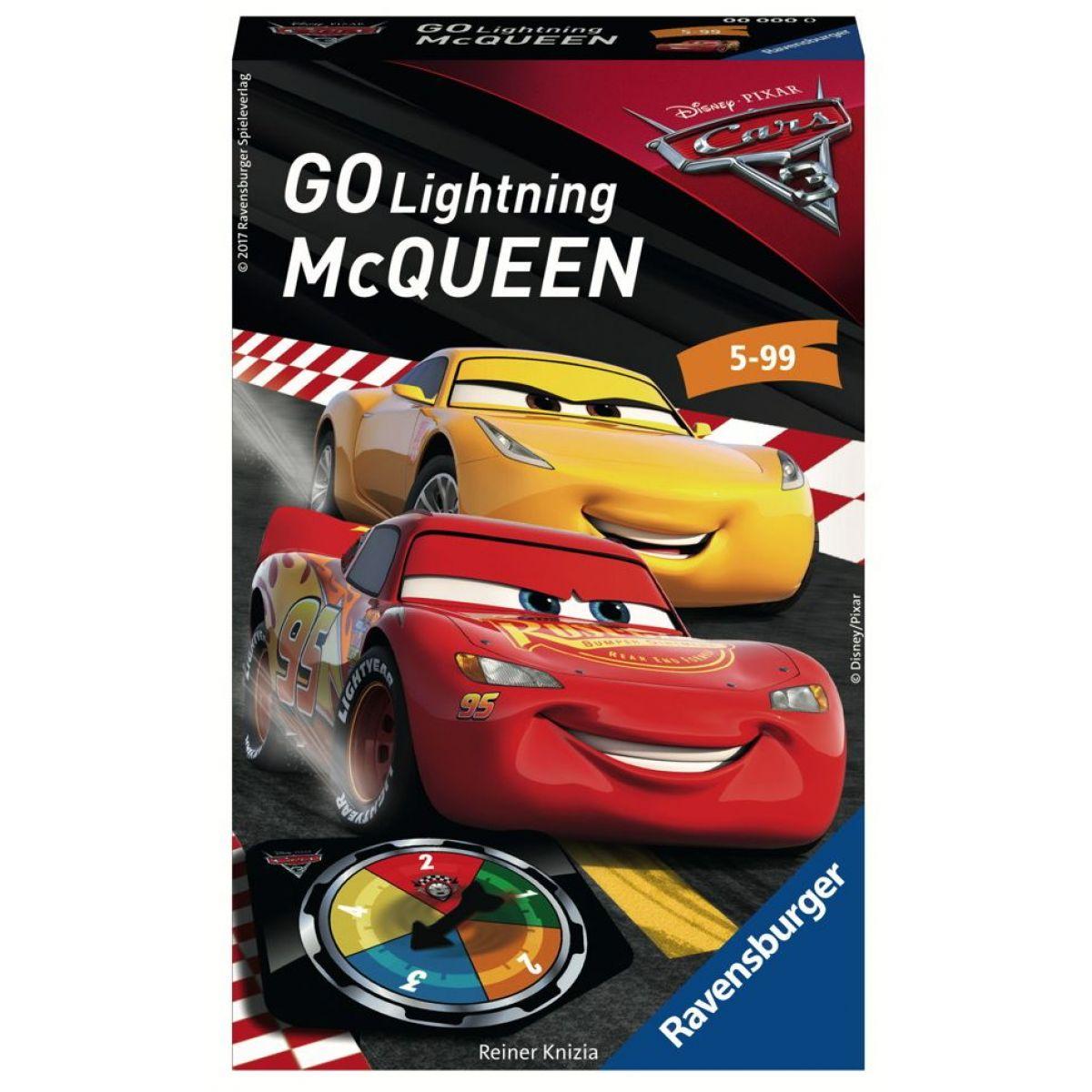 Ravensburger Hry 234493 Disney Autá Choď osvetlený McQueen!