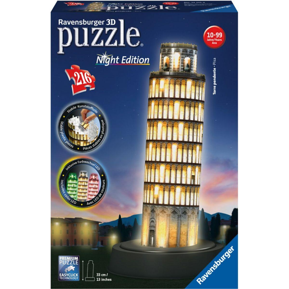 Ravensburger 3D puzzle Pisa Nočná svietiace 216 dielikov