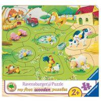 Ravensburger Puzzle 036837 Malá farma 9 dielikov