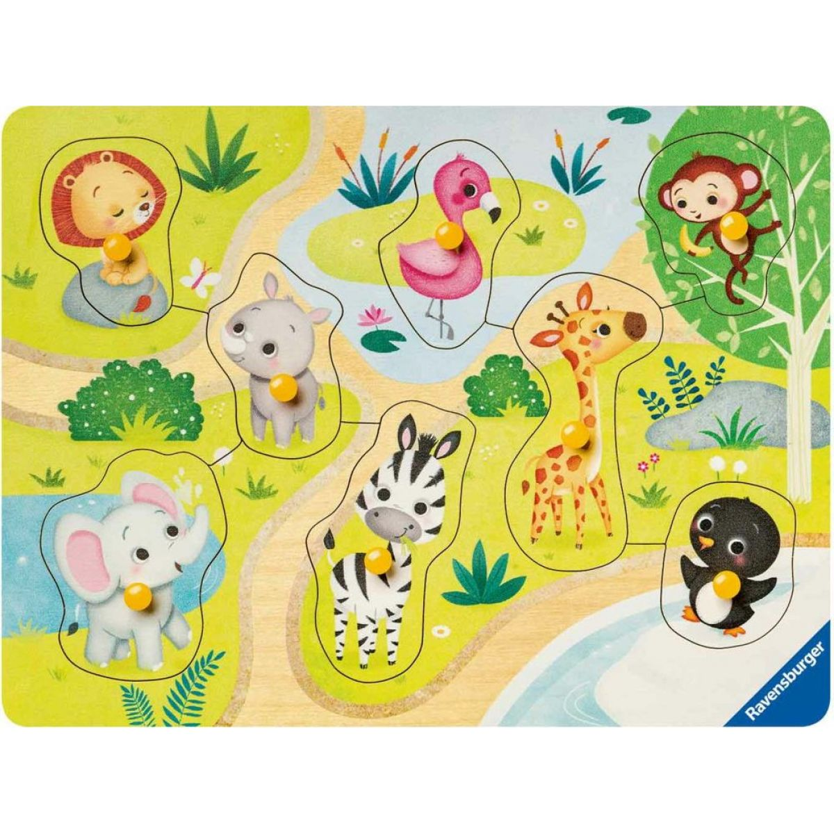 Ravensburger Puzzle 036875 Zoo zvieratá 8 dielikov