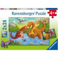 Ravensburger puzzle 050307 Hraví dinosaury 2x24 dielikov