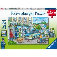 Ravensburger puzzle 050314 Policejní vyšetřování 2x24 dílků